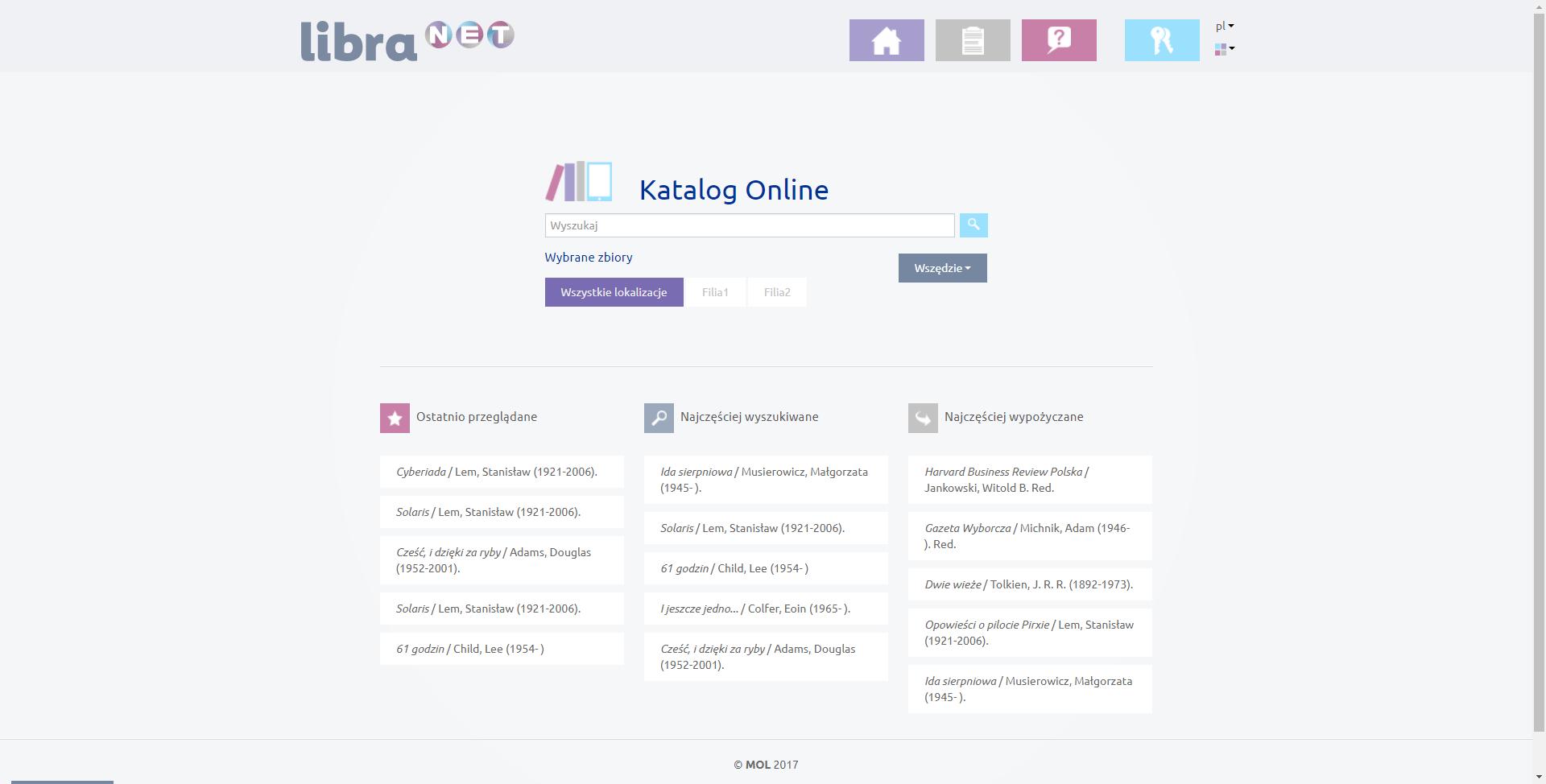 Libra NET - katalog on-line