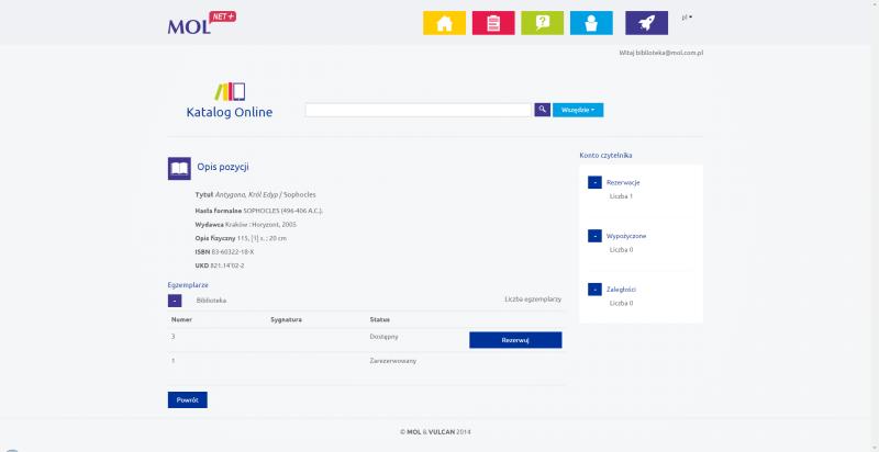 Katalog on-line MOL NET+ opis